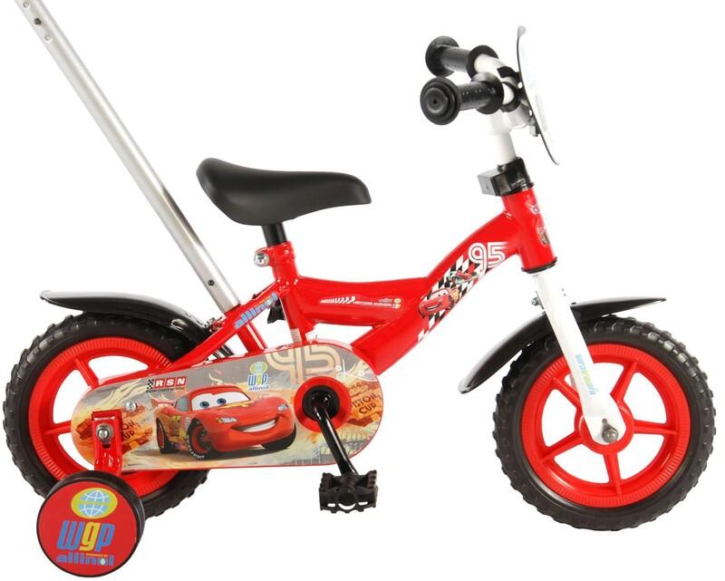 "VOLARE - Disney Cars Detský bicykel 10"" - Red"