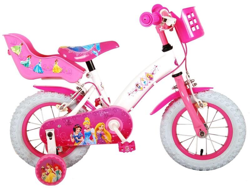 """VOLARE - Disney Princess detský bicykle pre dievčatá 12"""" Pink"""