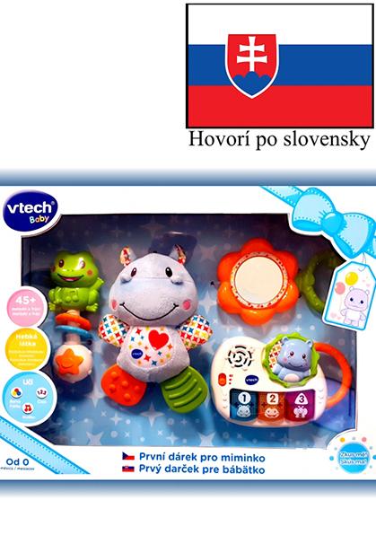VTECH - Prvý darček pre bábëtko (SK) - modrý