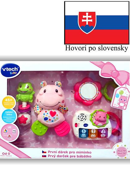 VTECH - Prvý darček pre bábëtko (SK) - ružový