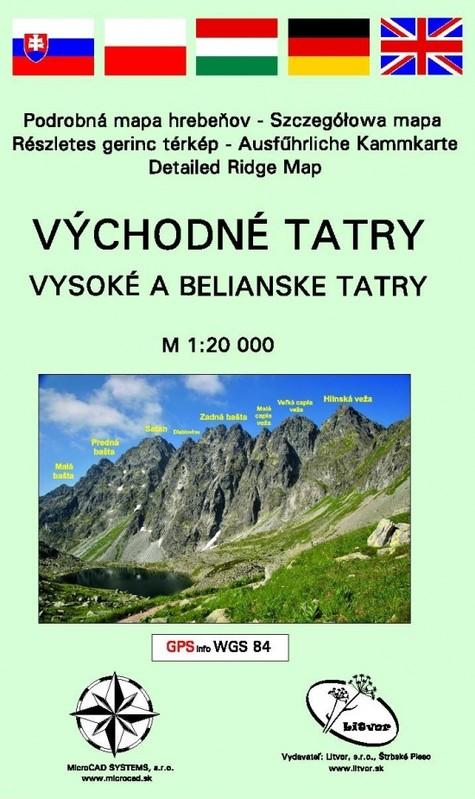 Východné Tatry - Vysoké a Belianske Tatry (mapa) - Kolektív autorov
