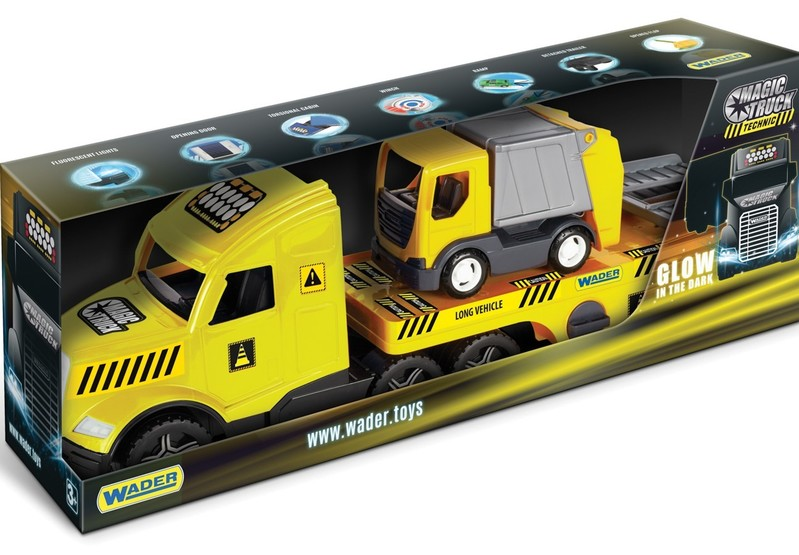 WADER - Odťahovacie vozidlo Magic Truck Technic s prívesom na odvoz odpadu