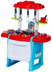 WANYIDA TOYS - Detská kuchynka s príslušenstvom - červená/modrá