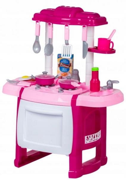 WANYIDA TOYS - Detská kuchynka s príslušenstvom - ružová