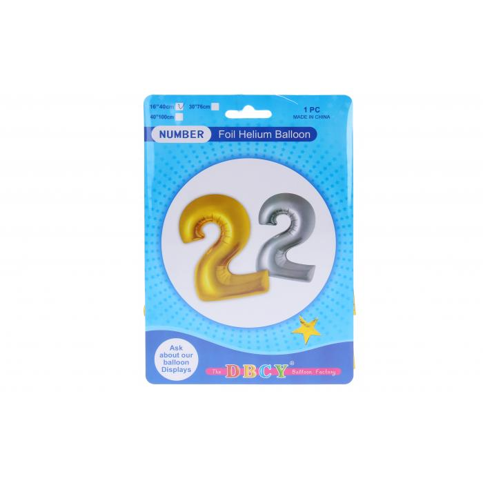 WIKY - Balóniky nafukovacie v tvare čísla 2