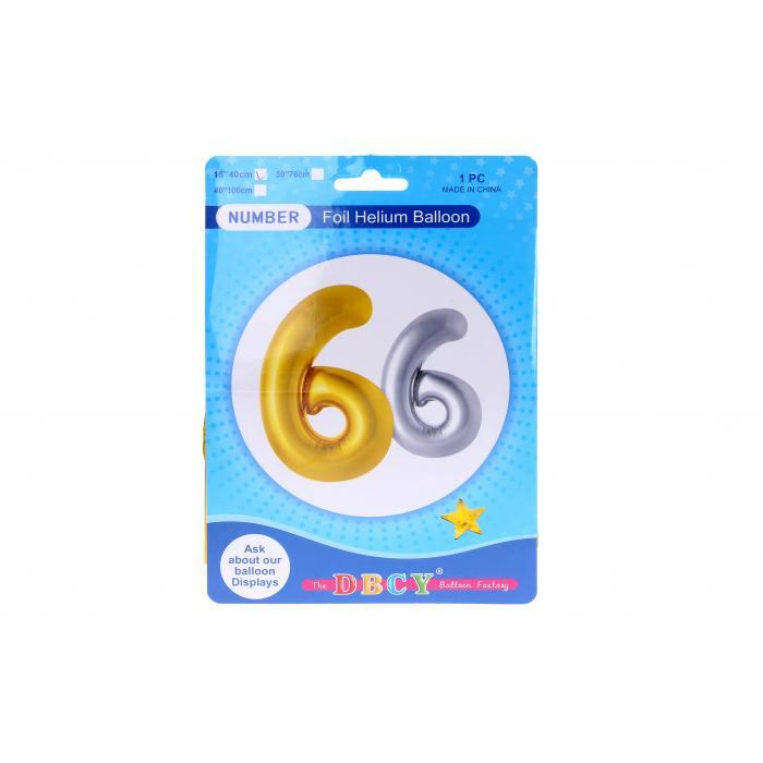 WIKY - Balóniky nafukovacie v tvare čísla 6