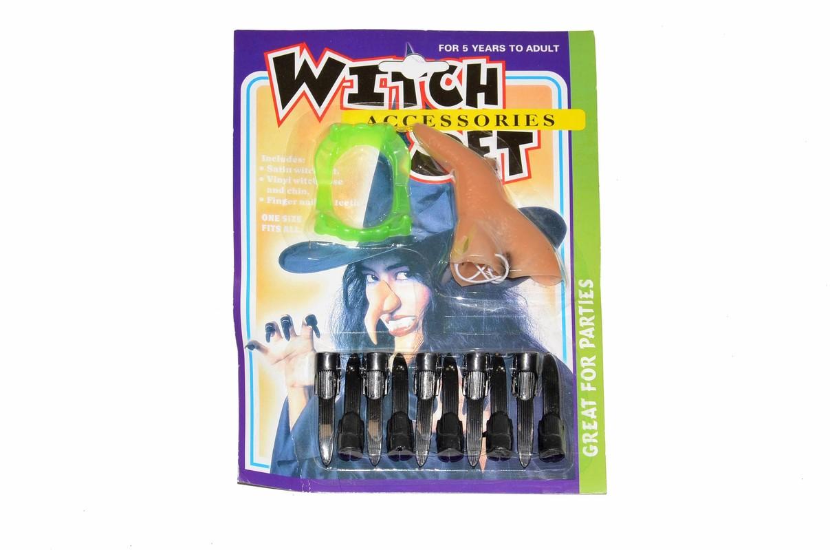 WIKY - Čarodejnický set nechty nos zuby