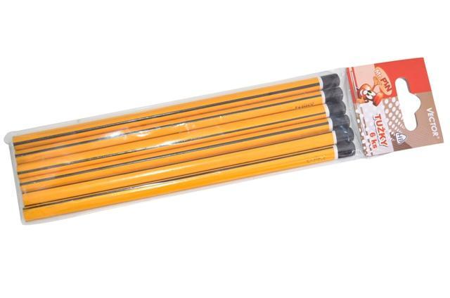 WIKY - Ceruzky HB ergonomické 6 ks