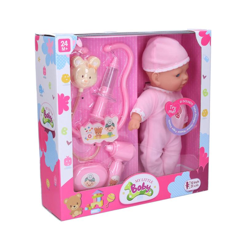 WIKY - Choré bábätko, 31 cm, BO, so zvukom