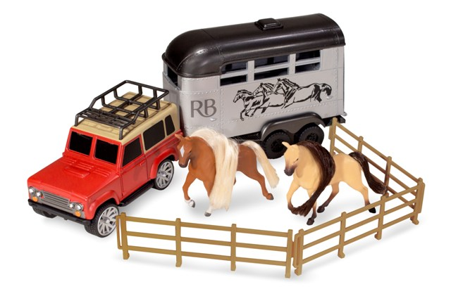 WIKY - Kôň s autom set