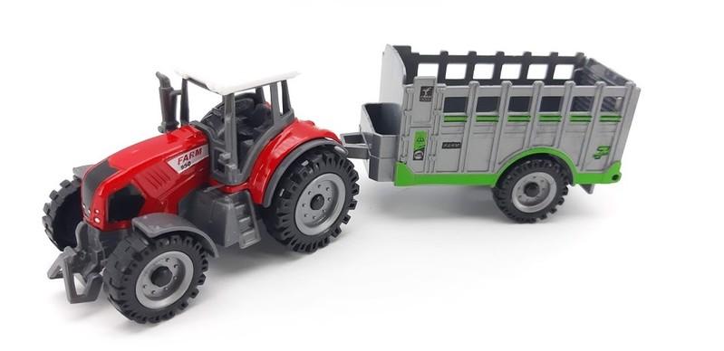 WIKY - Kovový Traktor s ohrádkou 19cm - žltá