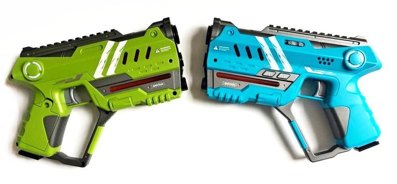 WIKY - Laser hra pre dvoch 22cm - modrá a zelená farba