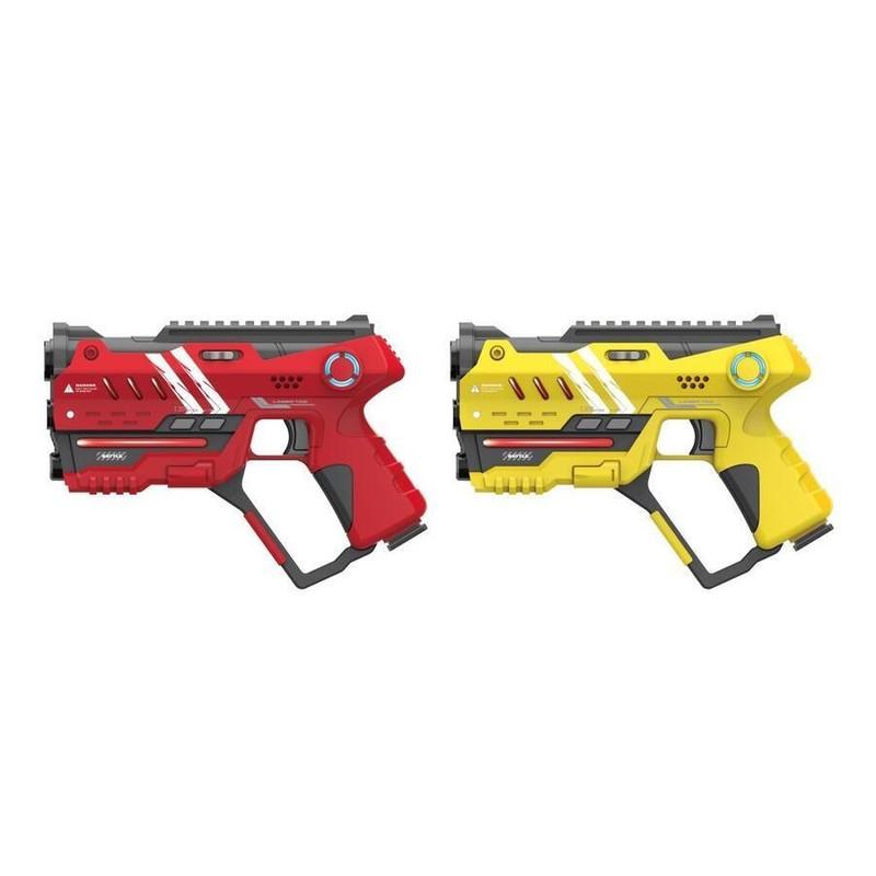 WIKY - Laser hra pre dvoch 22cm - žltá a červená farba
