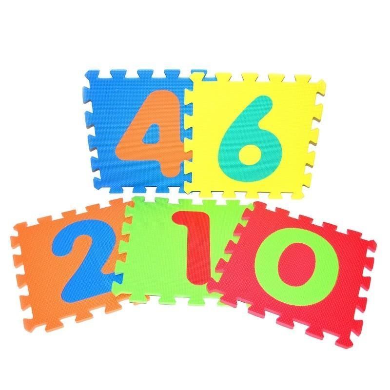 WIKY - Mäkké puzzle bloky číslice 30x30cm