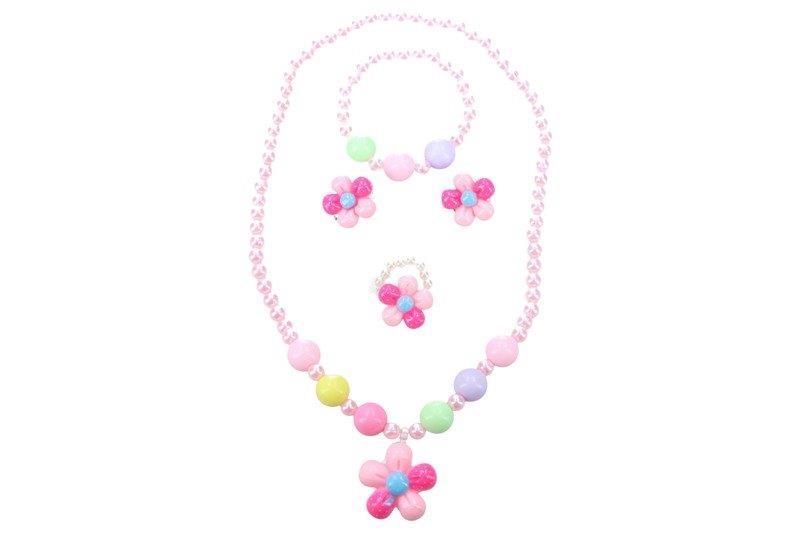 WIKY - Módne doplnky s kvetinkou náhrdelnik, náramok, naušnice