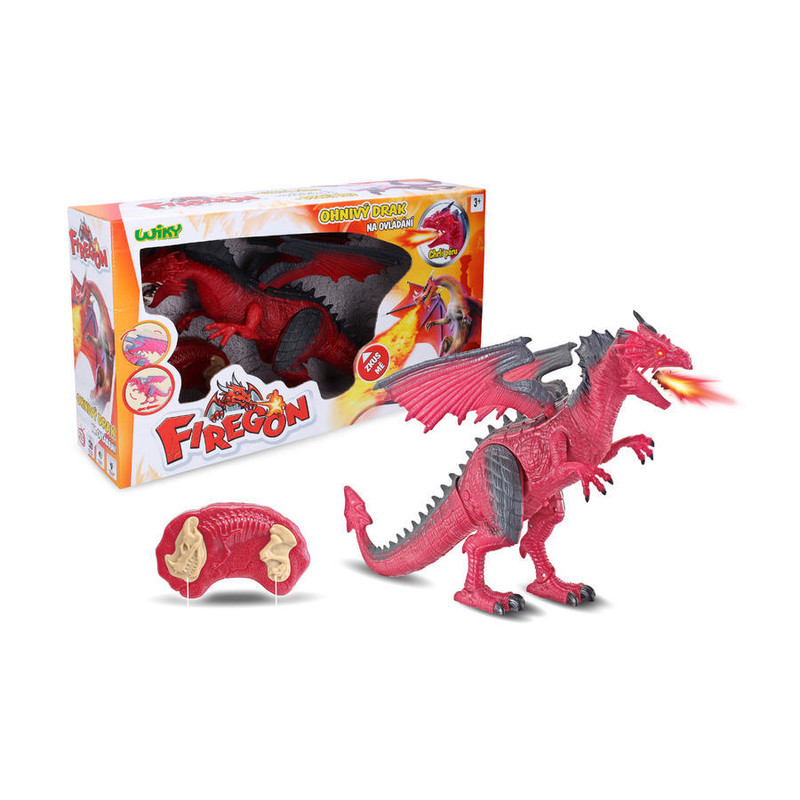 WIKY - Ohnivý drak Firegon s efektmi RC 45cm