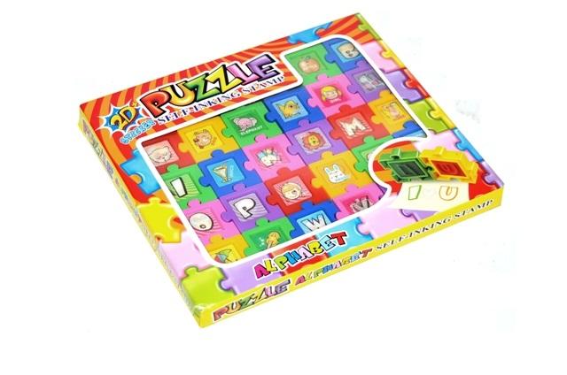 WIKY - Pečiatka puzzle 2D písmenka