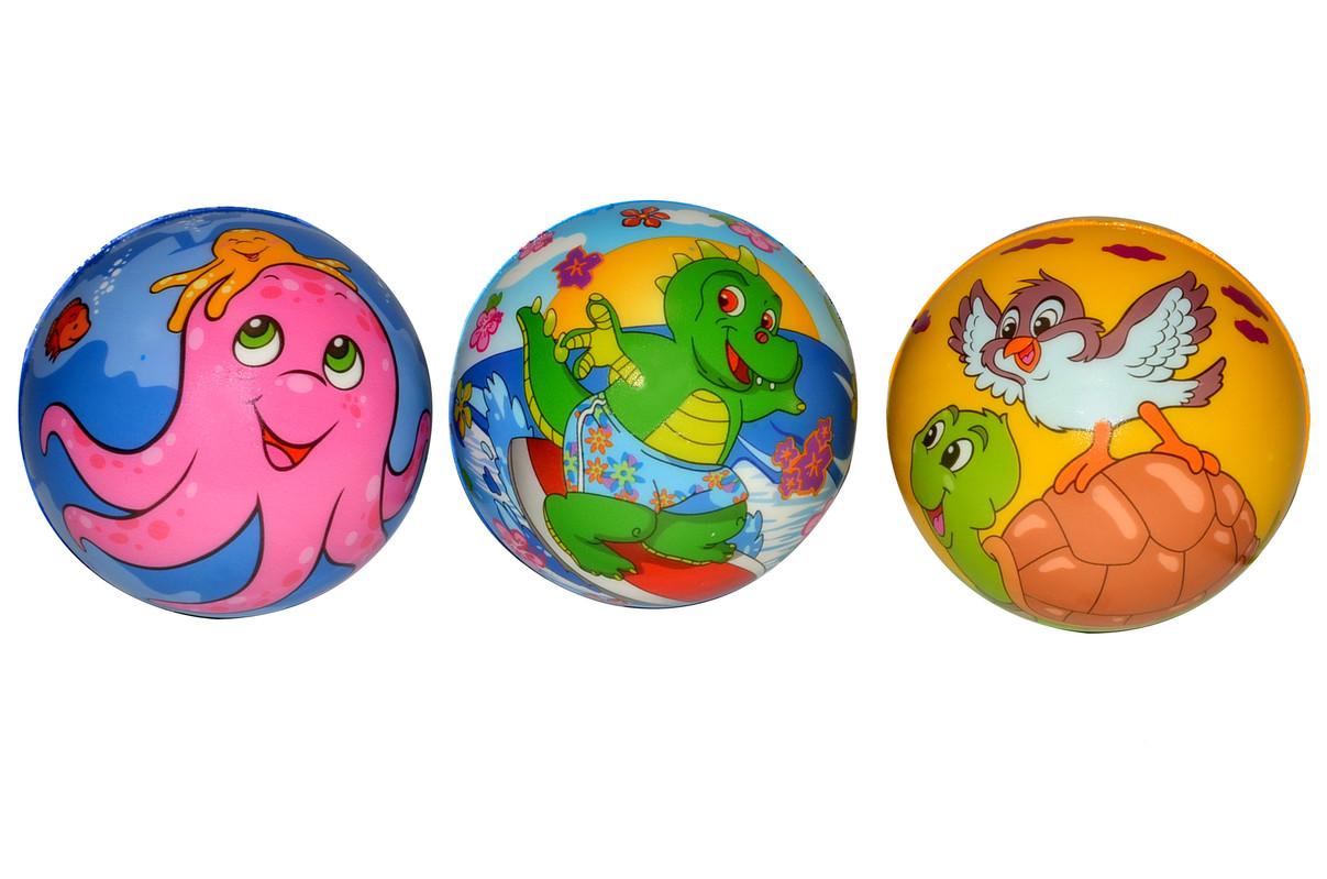 WIKY - Penová lopta so zvieratkami 9cm