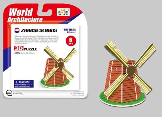 WIKY - Puzzle 3D Mini Mlyn