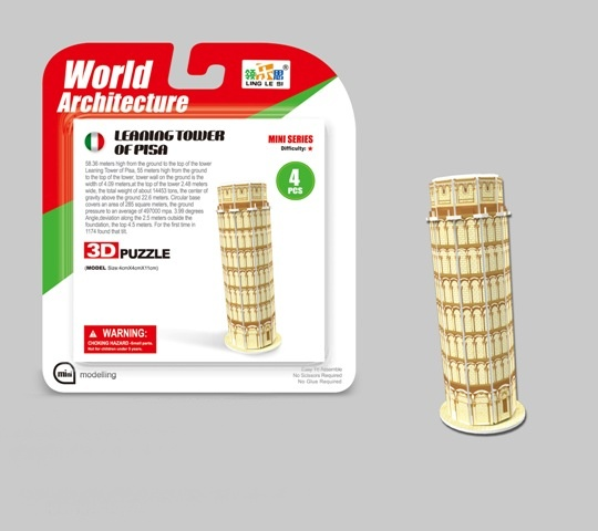 WIKY - Puzzle 3D Mini Šikmá veža