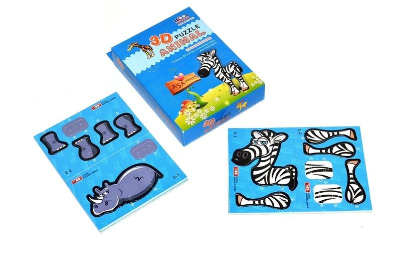 WIKY - Puzzle 3D zvieratká