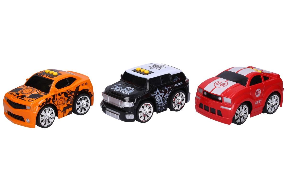 WIKY - Športové auto na batérie 15cm - čierna