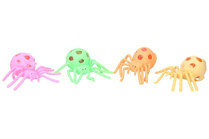 WIKY - Stláčací pavúk 13cm - žltá