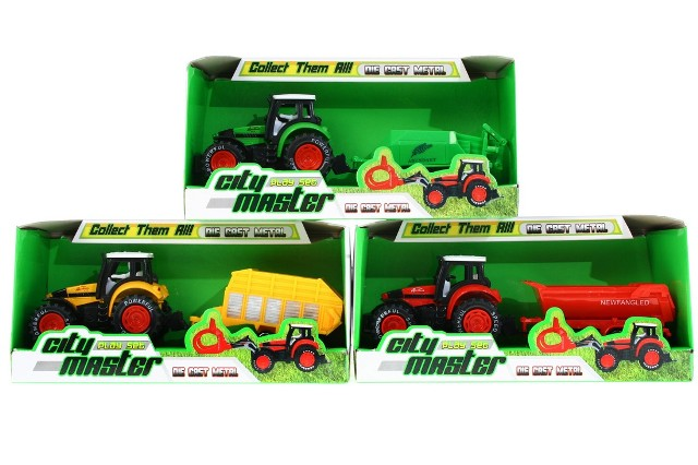 WIKY - Traktor kovový s doplnkami
