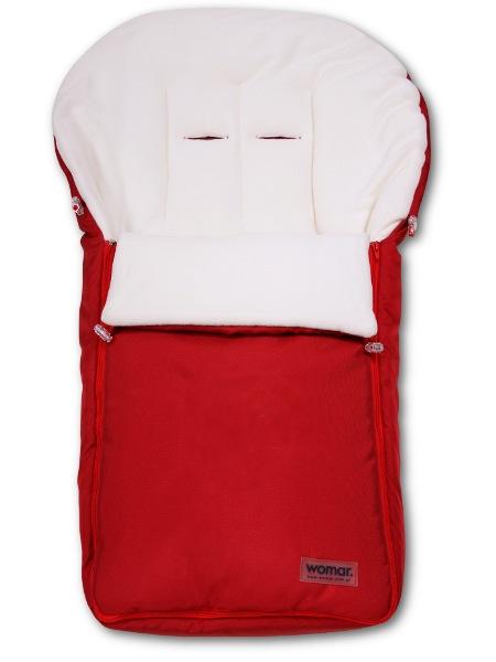 WOMAR - Fusak - fleece - červený