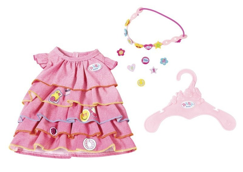 ZAPF CREATION - Baby Born Letné šatôčky s farebnou čelenkou 824481