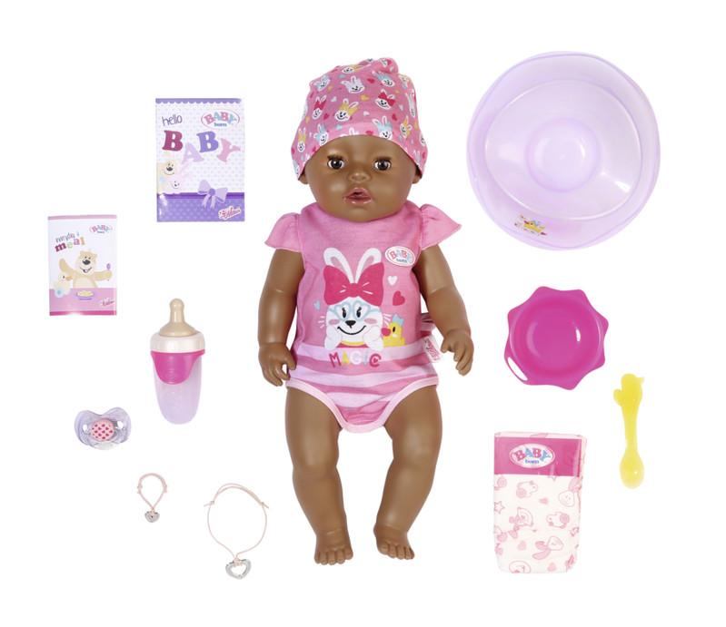ZAPF CREATION - BABY born s čarovným cumlíkom, černoška, 43 cm
