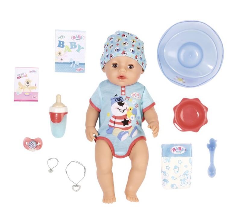 ZAPF CREATION - BABY born s čarovným cumlíkom, chlapček, 43 cm