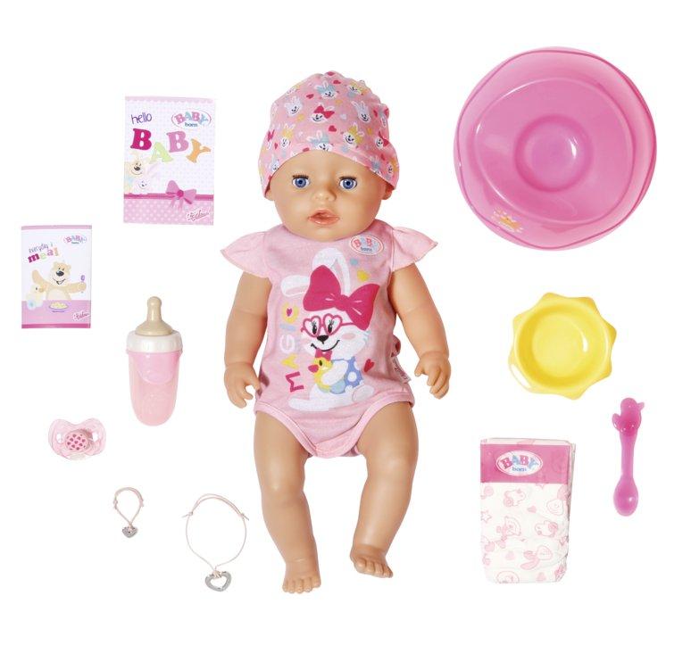 ZAPF CREATION - BABY born s čarovným cumlíkom, dievčatko, 43 cm