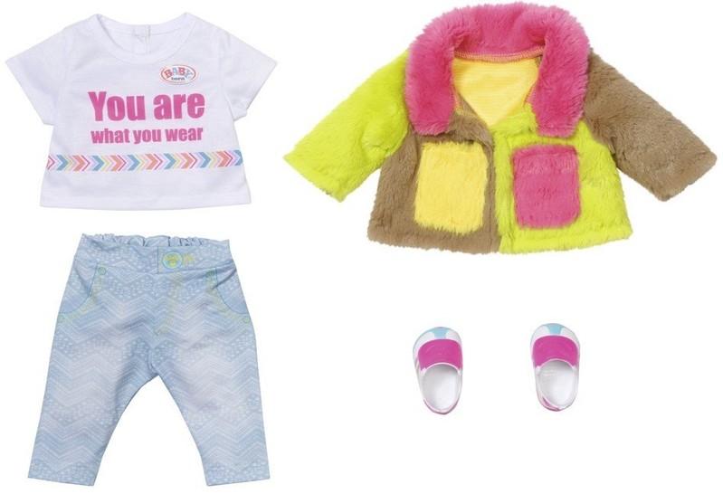 ZAPF CREATION - BABY born Súprava s farebným kabátom Deluxe, 43 cm