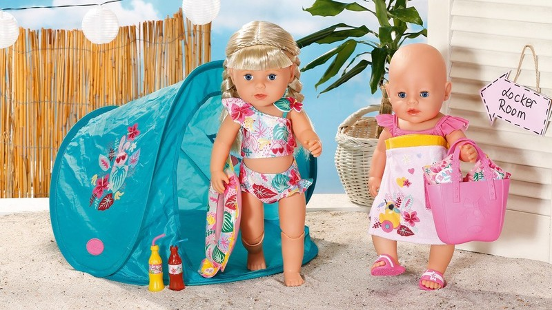 ZAPF CREATION - Baby born Súprava s plážovým stanom