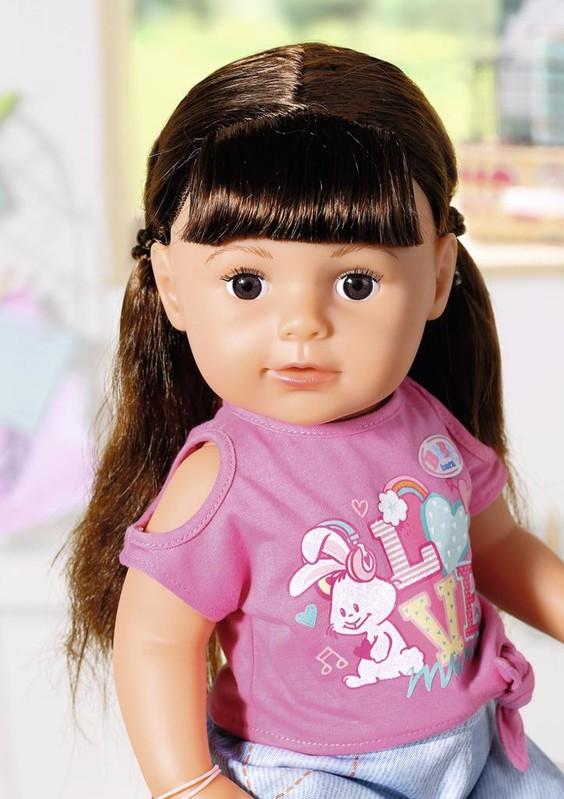 ZAPF - Staršia Sestrička Baby Born Soft Touch Brunetka, 43 Cm
