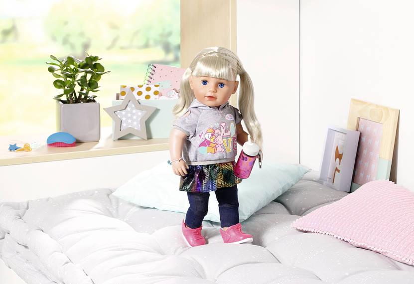 ZAPF - Staršie Sestrička Baby Born Soft Touch Blondínka, 43 Cm