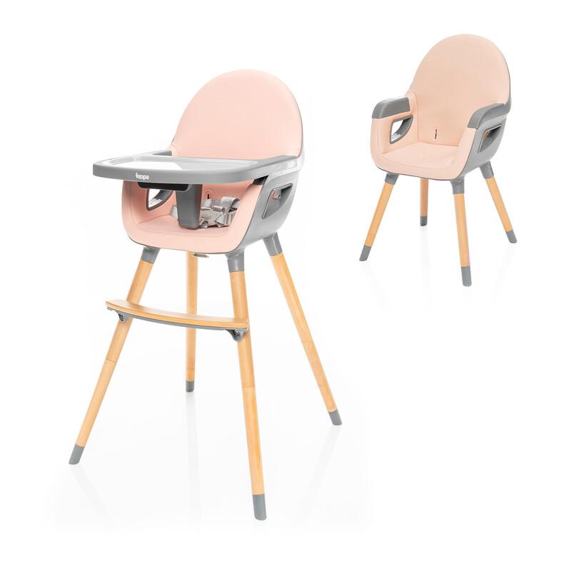 ZOPA - Detská stolička Dolce 2, Blush Pink/Grey