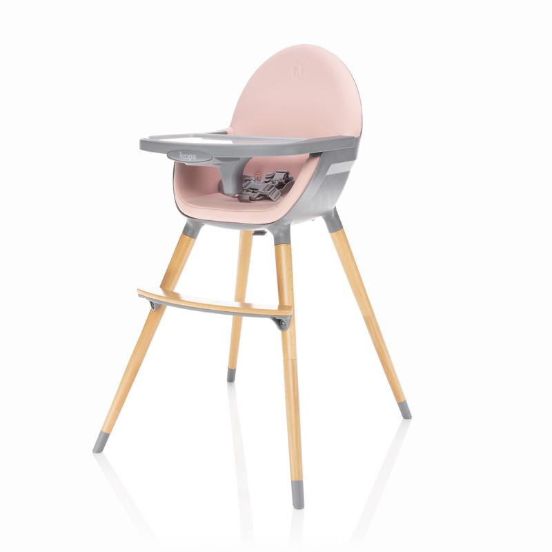 ZOPA - Detská stolička Dolce, Blush Pink/Grey