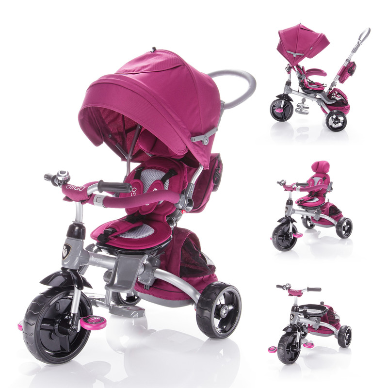 ZOPA - Trojkolka CITIGO - Mulberry Pink